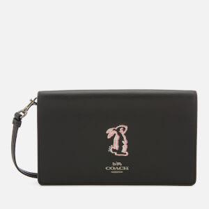 Coach Women's Selena Bunny Foldover Cross Body Bag - Black