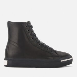 Alexander Wang Women's Pia Black Leather Hi-Top Trainers - Black