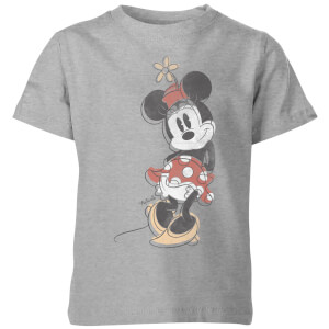 Disney Minnie Offset Kids' T-Shirt - Grey