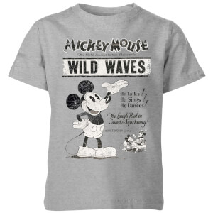 Disney Retro Poster Wild Waves Kids' T-Shirt - Grey