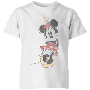 Disney Minnie Offset Kids' T-Shirt - White