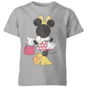 Disney Minnie Mouse Back Pose Kids' T-Shirt - Grey
