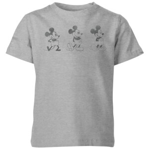 Disney Evolution Three Poses Kids' T-Shirt - Grey