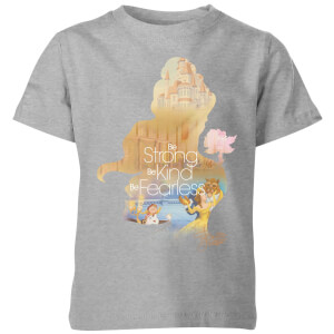 Disney Princess Filled Silhouette Belle Kids' T-Shirt - Grey