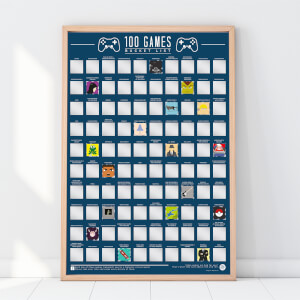 100 Games Bucket List Poster