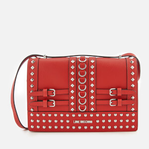 Love Moschino Women's Studded Shoulder Bag - Red