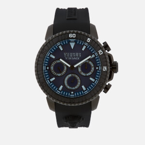 Versus Versace Men's Aberdeen Silicone Strap Watch - Black