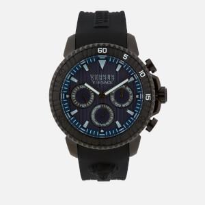 Versus Versace Men's Aberdeen Silicone Strap Watch - Black