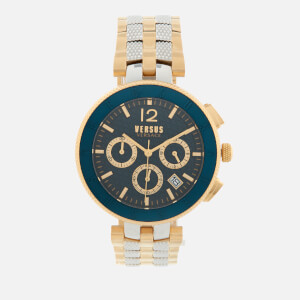 Versus Versace Men's Logo Stainless Steel Chronograph Watch - Gold/Silver