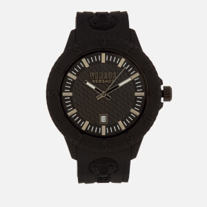 Versus Versace Men's Tokyo Silicone Lion Head Strap Watch - Black