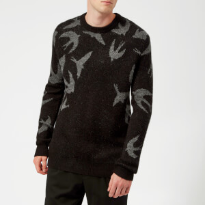 McQ Alexander McQueen Men's Swallow Swarm Crew Neck Jumper - Darkest Black