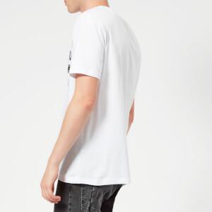 McQ Alexander McQueen Men's Dropped Shoulder McQ Sponsorship T-Shirt - Optic White: Image 2