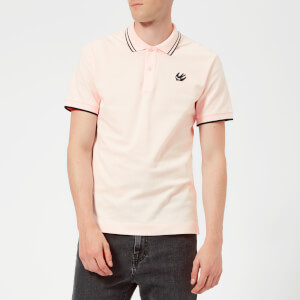 McQ Alexander McQueen Men's Organic McQ Pique' McQ Polo Shirt - Post It Pink