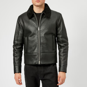 McQ Alexander McQueen Men's Shearling Biker Jacket - Darkest Black