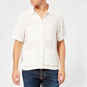 Nudie Jeans Men's Svante Worker Shirt - Off White