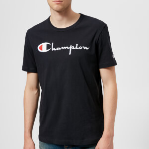 Champion Men's Large Logo T-Shirt - Blue