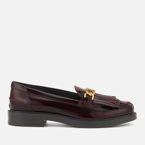 Tod's Women's Fringed Loafers - Burgundy