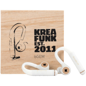 Kreafunk bGEM Bluetooth Wireless In-Ear Headphones - White