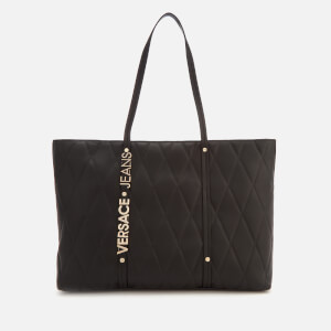 Versace Jeans Women's Quilted Logo Tote Bag - Black