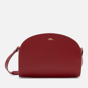 A.P.C. Women's Demi-Lune Crossbody Bag - Dark Red