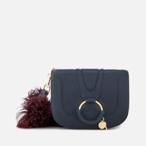 See By Chloé Women's Hana Fur Strap Shoulder Bag - Ultramarine