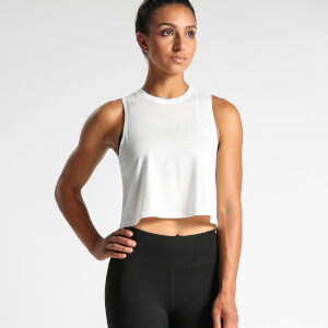IdealFit Flowy Crop Top - White