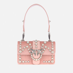 Pinko Women's Mini Love Velvet Pearls Bag - Pink