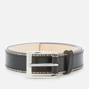 Paul Smith Men's Stripe Detail Belt - Black