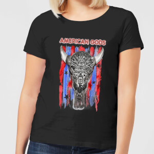 American Gods Skull Flag Women's T-Shirt - Black