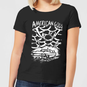 American Gods Car Storm Women's T-Shirt - Black