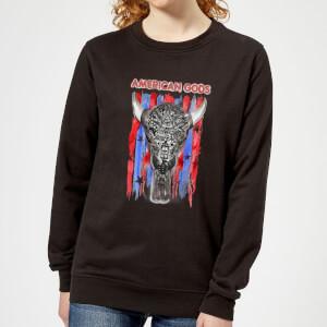 American Gods Skull Flag Women's Sweatshirt - Black