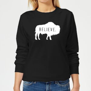 American Gods Believe Buffalo Women's Sweatshirt - Black