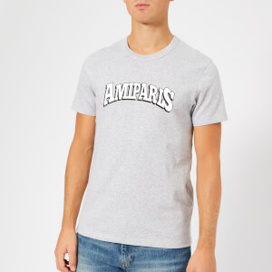 AMI Men's AMI Paris Printed T-Shirt - Heather Grey