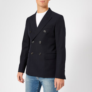 AMI Men's Lined 2 Button Jacket - Navy