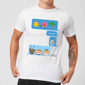 Frozen I Love Heat Emoji Men's T-Shirt - White