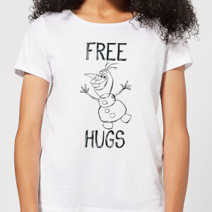 Disney Frozen Olaf Free Hugs Women's T-Shirt - White