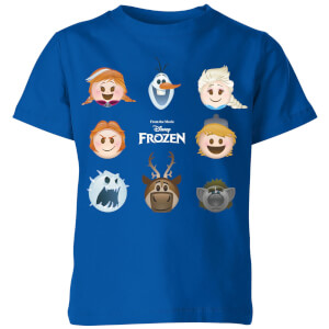 Disney Frozen Emoji Heads Kids' T-Shirt - Royal Blue