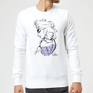 Disney Frozen Elsa Sketch Sweatshirt - White