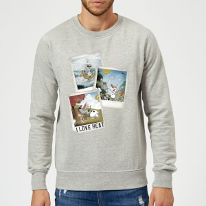 Sweat Homme La Reine des Neiges - Polaroid Olaf - Gris