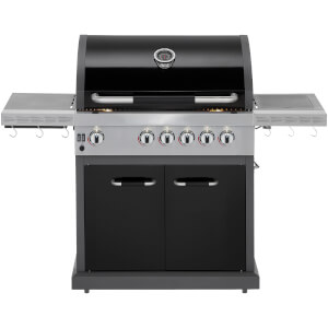 Jamie Oliver Pro Four Deluxe Burner Gas Barbecue with Side Burner - Matte Black