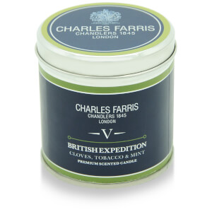 Charles Farris Signature British Expedition Tin Candle 300g