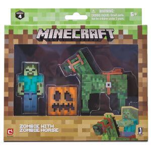 Minecraft Zombie with Zombie Horse Set