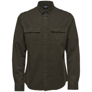 Only & Sons Men's Klaus Long Sleeve Heavy Utility Shirt - Forest Night