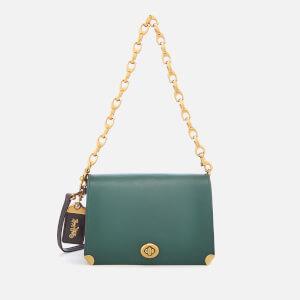 Coach 1941 Women's Colourblock Leather Dinky 19 Cross Body Bag - Evergreen
