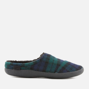 TOMS Men's Berkeley Plaid Felt Slippers - Spruce
