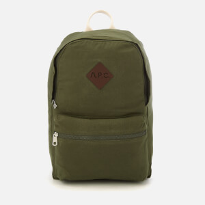 A.P.C. Men's Sadie Backpack - Kaki Militare
