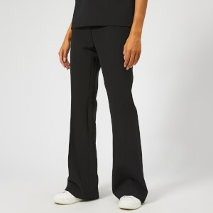 Victoria, Victoria Beckham Women's Sponge Wool Blend Triple Stitch Pants - Black