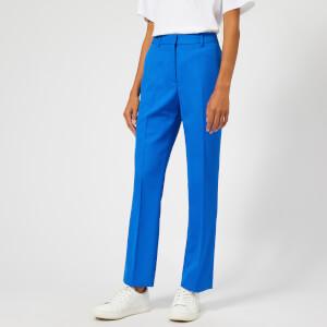 Victoria, Victoria Beckham Women's Fluid Wool Twill Straight Leg Pants - Lapis