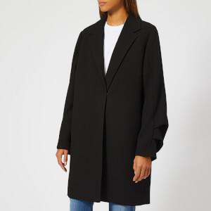 Victoria, Victoria Beckham Women's Gaberdine Tuck Sleeve Coat - Black