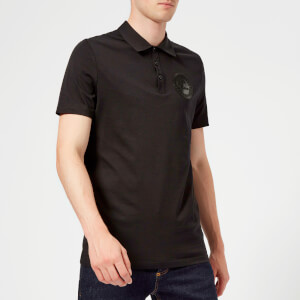 Versace Collection Men's Small Logo Polo Shirt - Nero